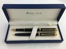 Waterman Harmonie set fountain pen + propelling pencil lacquer black GT