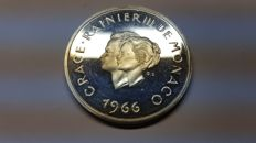 Monaco – Proof 10 Francs 1966 'Tenth wedding anniversary' – Silver