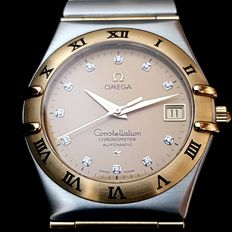 Omega - Constellation Gold-Steel Gentleman WristWatch - Ref. 1202.15 - Herren - 2000-2010