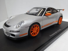 AUTOart - Scale 1/18 - Porsche 911/997 GT3 RS - Grey / Orange