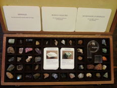 Mineral collection in display box - 270 g.(42)