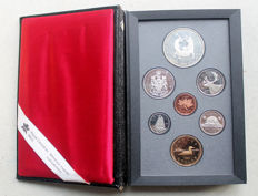 Canada - Official coin set 1988 with one silver dollar