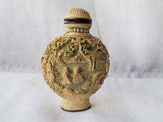 Chinese antique snuff bottle , signed , early 20th century
