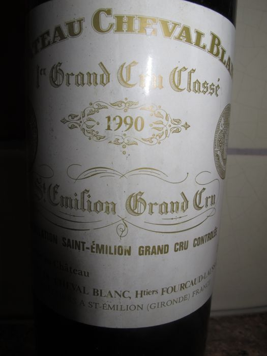 1990 Chateau Cheval Blanc, 1er Grand Cru Classé St.Emilion - 1 bottle