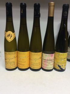Alsace - Gewurztraminer - 4x Vendanges Tardives & 1x Séléction de Grains Nobles - 5 bottles (0.5l) in total