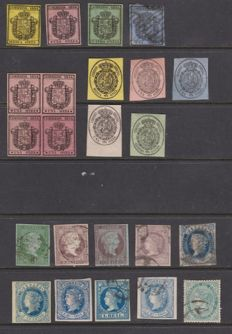 Spain 1854/1879 - Set of stamps and postal history