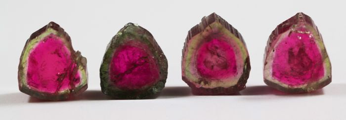 Lot of Watermelon Tourmaline Slices - 48ct (4)