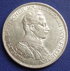 Prussian empire - 3 mark 1914 A - silver