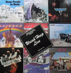 10 Albums ( 3 double ) From Frontline Hardrock Bands Of  the 70's