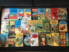 Tintin (24x) + Jo, Zette and Jocko (3x) - collection in English - 2x hc + 25x sc - reprint (1980-2016)
