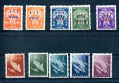Trieste B 1947/54 - Airmail and postage due series