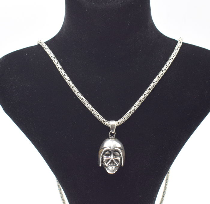 925 Italian sterling silver chain with Star wars pendant - 62 cm