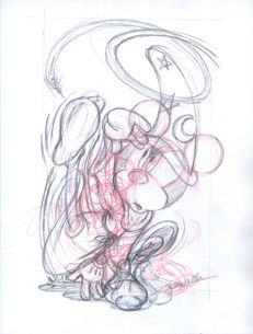 Vendetta, Z. - Original Sketch #5 - Mickey's Bee Series - The Sorcerer's Apprentice