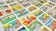 Large Original Collection of 70 New Comics Postcards + Antiques Curios Book - from 1970s to 1990s