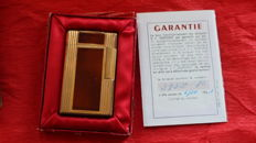 France Paris Dupont  lacquered lighter, Chinese lacquered, signed, 1961, with box