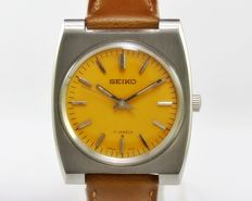 Seiko Ref 66-7100 Yellow Men's Vintage Wrist Watch 1960s