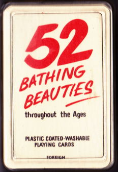 Playing Cards;  52 Bathing Beauties throughout the Ages. Plastic coated washable Playing Cards - 1960s