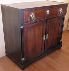Dark oak Empire pier cupboard - the Netherlands – c. 1810