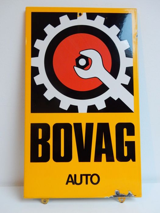 Emaille bord - BOVAG Auto - Langcat