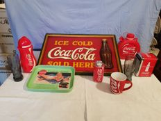 Mixed lot of 9 original Coca Cola pieces