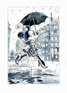 Fernandez, Tony - Original Mixed Media Artwork - Minnie Mouse inspired by Richard Avedon