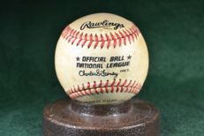Baseball ball signed by Joe Hesketh ONL Game-Used Baseball COA 1984-1994 Expos Red Sox Braves