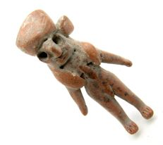 Indus Valley Terracotta Fertility Standing Male Idol  / Figurine  -53mm