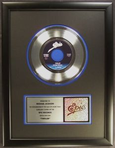 """Michael Jackson - Thriller - Official In House - US Epic  Platinum Record Award  7"""" single"""