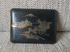 Vintage Japanese Damascene cigarette case , Japan , 1920-1960