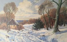 Unknown painter (20th century) - Winter landscape
