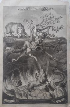 Adrian van de Venne (1589-1662) - Title of print is ''Image of an human's life, or, the Death trap of Life'' - c. 1620