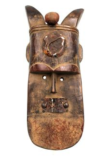Africain Mask with Beautiful Ornaments - TOMA - Liberia