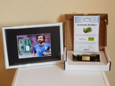 Andrea Pirlo - Panini Player Worn material Card Limited Edition 064/149 + Final WC 2006 Italy - France original piece of grass in acrylic + COA