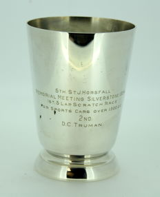 Vintage Silver Plate Tankard With Initials, C.1954