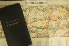 'Brabantica'(regarding the province of Brabant); Lot with 2 topographical maps of the province of Noord Brabant