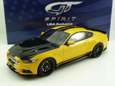 GT-Spirit - Scale 1/18 - Ford Shelby GT Mustang - 2015 - Yellow with black stripes