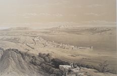 2 prints by David Roberts (1796 – 1864) - Various views on Ancient Monuments and Landscapes - 19th century