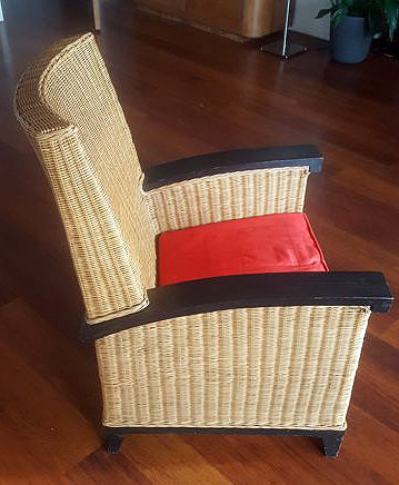 Wicker chair 1980s chair, Netherlands