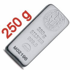 250 Fine Silver Bar,  *** NO RESERVE PRICES ***