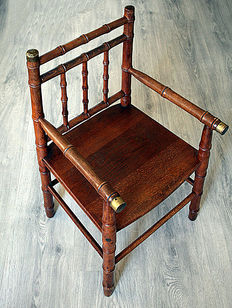 Wooden high chair, ca. 1930