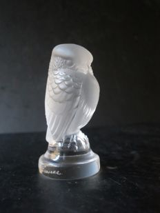 "Lalique (France) - Owl/Hawk ""Rapace"" Paperweight"