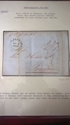 Great Britain -Trans Atlantic sea mail sent from Brazil, 1847