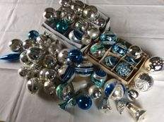 Collection of 46 old Christmas baubles