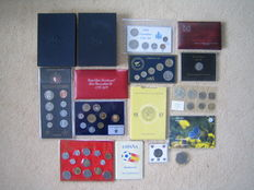 World - Collection various coins in sets (16 items in total)