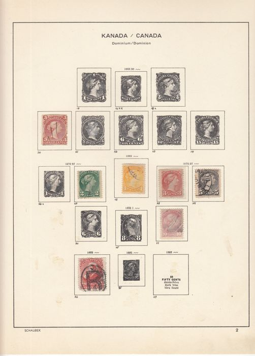 Canada 1868/1985 - Collectie in Schaubek album
