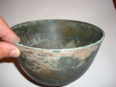 Chinese bronze bowl - 173 mm x 90 mm