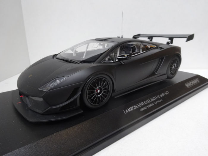 Minichamps   Scale 1/18   Lamborghini Gallardo LP600+ GT3   Matt Black    Limited
