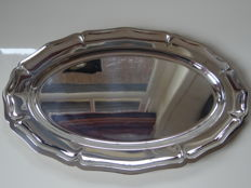 Oval serving tray, Christofle, France, 20th century