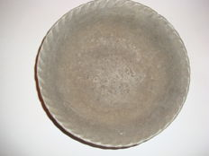 A Chinese grey ceramic bowl  -  220 mm x 72 mm