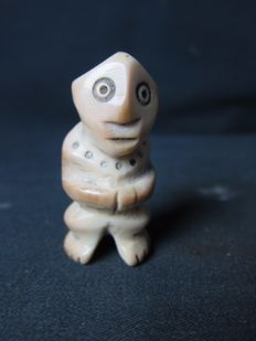 Antique ivory figurine - LEGA - D.R Congo